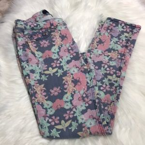 Rewash-Distressed denim floral print  jeans in sz1
